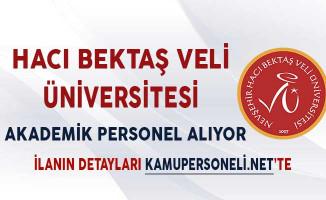 Hacı Bektaş Veli Üniversitesi Akademik Personel Alım İlanı