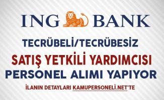 ING Bank Mobil Satış Yetkili Yardımcısı Personel Alıyor