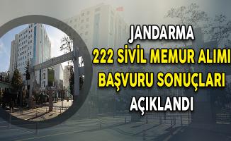 Jandarma Genel Komutanlığı 222 Sivil Memur Alımı Başvuru Sonuçları Açıklandı