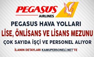 Pegasus Hava Yolları İşçi ve Personel Alım İlanı Yayımlandı!