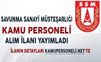 Savunma Sanayii Müsteşarlığı Personel Alım İlanı Yayımladı!