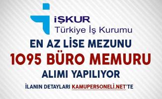 Türkiye İş Kurumu Üzerinden 1905 Büro Memuru Alımı Yapılıyor!