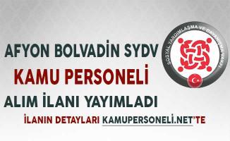 Afyon Bolvadin SYDV Kamu Personeli Alım İlanı Yayımladı