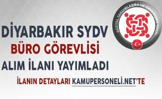 Diyarbakır SYDV Büro Görevlisi Alımı Yapıyor