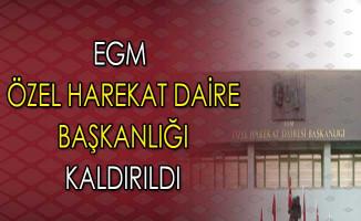 EGM Bünyesindeki Özel Harekat Daire Başkanlığı Kaldırıldı