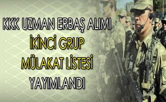 Kara Kuvvetleri Komutanlığı Uzman Erbaş İkinci Grup Mülakat Listesi Yayımlandı