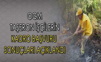 Orman Genel Müdürlüğü Taşeron İşçilerin Kadro Başvuru Sonuçları Açıklandı
