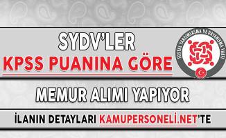SYDV'ler KPSS Puanına Göre Memur Alımı Yapıyor