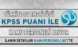 Türkiye Su Enstitüsü KPSS Puanı İle Kamu Personeli Alımı İçin Başvurular Sona Eriyor