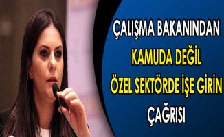 Bakan Sarıeroğlu'ndan Kamuda Değil Özel Sektörde İşe Girin Çağrısı !
