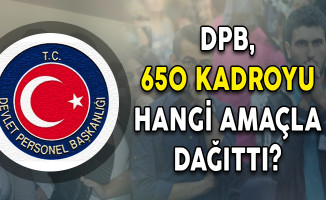 DPB, 650 Kadroyu Hangi Amaçla Dağıttı?