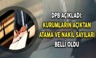 DPB Açıkladı: Kurumların Açıktan Atama ve Nakil Sayıları Belirlendi
