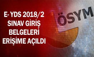 e-YDS 2018/2 Sınav Giriş Belgeleri Erişime Açıldı