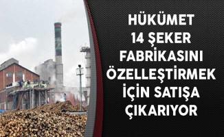 Hükümet 14 Şeker Fabrikasını Özelleştirmek İçin Satışa Çıkarıyor