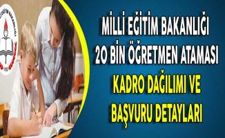 MEB 20 Bin Öğretmen Ataması Kadro Dağılımı ve Başvuru Süreci !