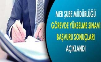 MEB Şube Müdürlüğü GYS Yazılı Sınav Başvuru Sonuçları Açıklandı