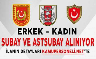 Milli Savunma Bakanlığı (MSB) 9 Bin 753 Subay ve Astsubay Alım İlanı Başvuru Detayları (Kadın - Erkek)