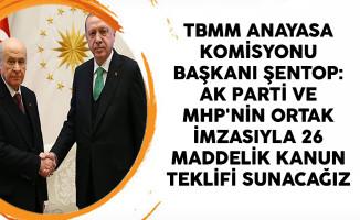 TBMM Anayasa Komisyonu Başkanı Şentop: 26 Maddelik Kanun Teklifi Sunacağız