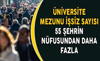 Üniversite Mezunu İşsiz Sayısı 55 Şehrin Nüfusundan Daha Fazla