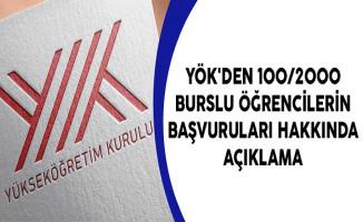 YÖK'den 100/2000 Burslu Öğrencilerin Başvuruları Hakkında Açıklama