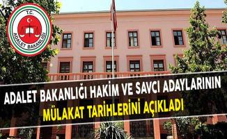 Adalet Bakanlığı Hakim ve Savcı Adaylarının Mülakat Tarihlerini Açıkladı
