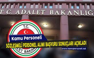 Adalet Bakanlığı Sözleşmeli Bilişim Personeli ve Çözümleyici Alımı Başvuru Sonuçlarını Açıkladı