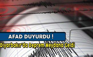 AFAD Duyurdu: Diyarbakır'da Deprem Oldu