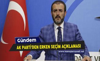 AK Parti'den Erken Seçim İddialarına İlişkin Açıklama