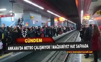 Ankara'da Metro Seferlerinde Sorun Yaşanıyor ! Çok Sayıda Vatandaş Mağdur