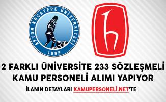 DPB'de İlan Yayımlayan 2 Farklı Üniversite 233 Sözleşmeli Kamu Personeli Alımı Yapıyor