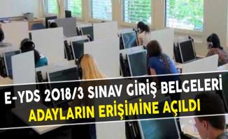 e-YDS 2018/3 Sınav Giriş Belgeleri Adayların Erişimine Açıldı