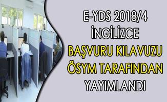 e-YDS 2018/4 İngilizce Başvuru Kılavuzu ÖSYM Tarafından Yayımlandı