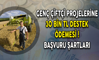 Genç Çiftçi Projelerine 30 Bin TL Destek Ödemesi! Başvuru Şartları