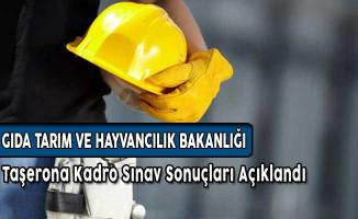 GTHB Taşerona Kadro Sınav Sonuçları Açıklandı