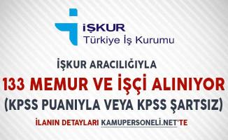 İşkur Aracılığıyla 133 Memur ve İşçi Alımı Yapılıyor (Belediye, Öğretmenevi, Polisevi ve Sulama Birliği)