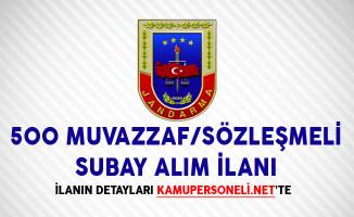 Jandarma Genel Komutanlığı 500 Muvazzaf/Sözleşmeli Subay Alım İlanı