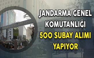 Jandarma Genel Komutanlığı (JGK) 500 Muvazzaf/Sözleşmeli Subay Alım İlanı Yayımlandı