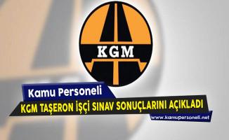 Karayolları Genel Müdürlüğü (KGM) Taşeron İşçi Sınav Sonuçlarını Açıkladı