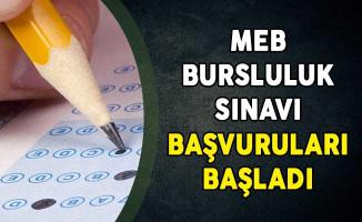 MEB Bursluluk Sınavı Başvuruları Başladı