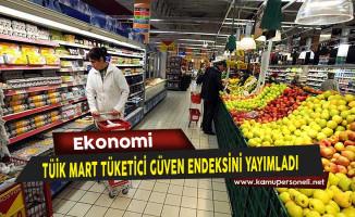 Türkiye İstatistik Kurumu (TÜİK) Mart Tüketici Güven Endeksini Yayımladı