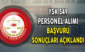 YSK 549 Personel Alımı Başvuru Sonuçları Açıklandı