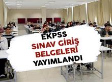 2018 EKPSS Sınav Giriş Belgeleri Adayların Erişimine Açıldı