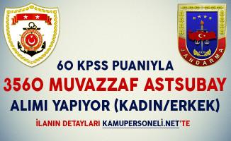 60 KPSS Puanıyla 3560 Astsubay Alımı Yapılıyor (Kadın/Erkek)