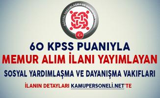 60 KPSS Puanıyla Memur Alımı Yapan SYDV'ler