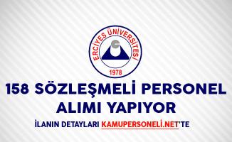 Erciyes Üniversitesi 158 Sözleşmeli Personel Alımı Yapıyor