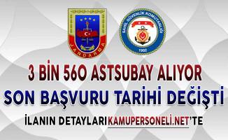 Jandarma 3 Bin 400 Sahil Güvenlik 160 Astsubay Alımı Son Başvuru Tarihi Değişti