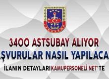 Jandarma Genel Komutanlığı 3400 Astsubay Alımı Yapıyor ! Başvurular Nasıl Yapılacak?
