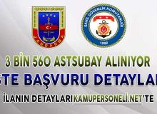 Jandarma ve Sahil Güvenlik 3 Bin 560 Astsubay Alımı Yapıyor ! İşte Başvuru Detayları