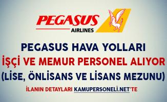 Pegasus Hava Yolları İşçi ve Memur Personel Alım İlanı Yayımladı (Lise, Önlisans ve Lisans Mezunu)