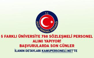 5 Farklı Üniversite 788 Sözleşmeli Personel Alımı Yapıyor! Başvurularda Son Günler